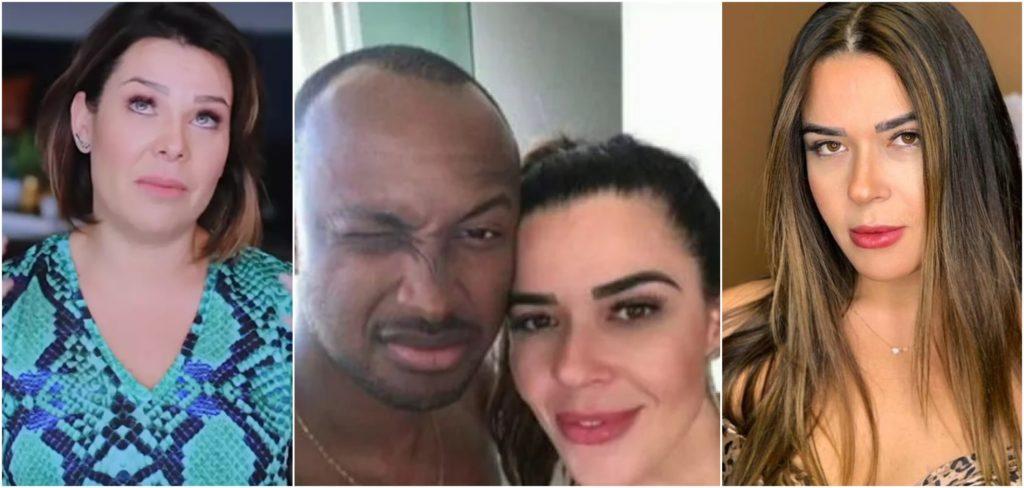 A atriz e apresentadora Fernanda Souza, o cantor Thiaguinho e a modelo Allana Aguiar (Reprodução)