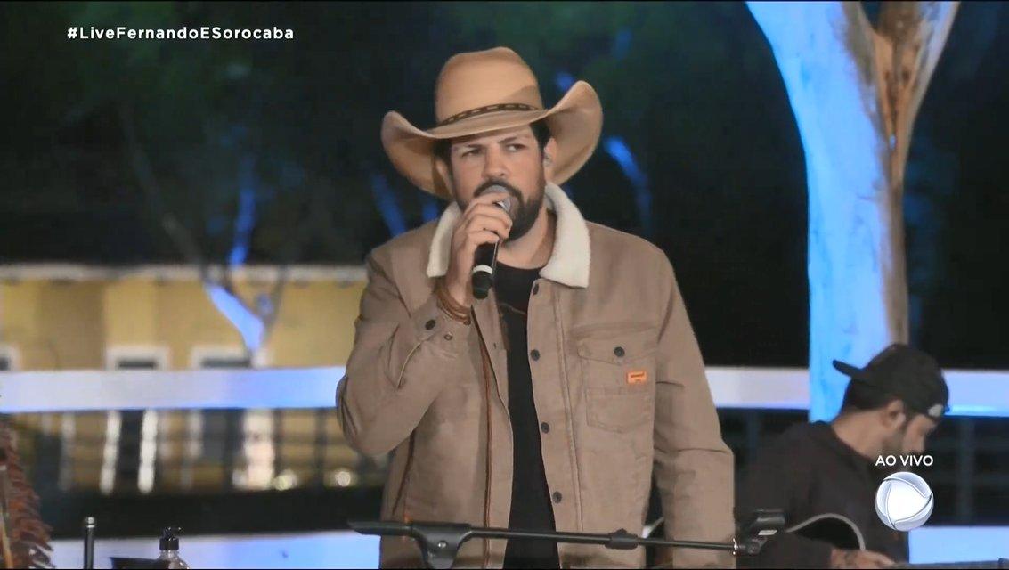 Fernando e Sorocaba tiveram live transmitida pela Record - Foto: Reprodução