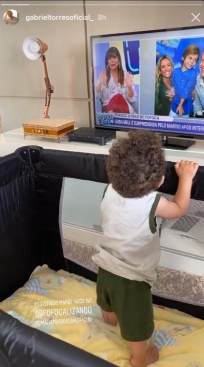 Noivo de Mara Maravilha posta foto do filho (Foto: Reprodução)