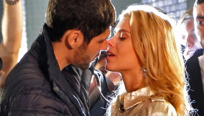 Wallace (Dudu Azevedo) e Teodora (Carolina Dieckmann) em cena de Fina Estampa (Foto: Reprodução/Globo)