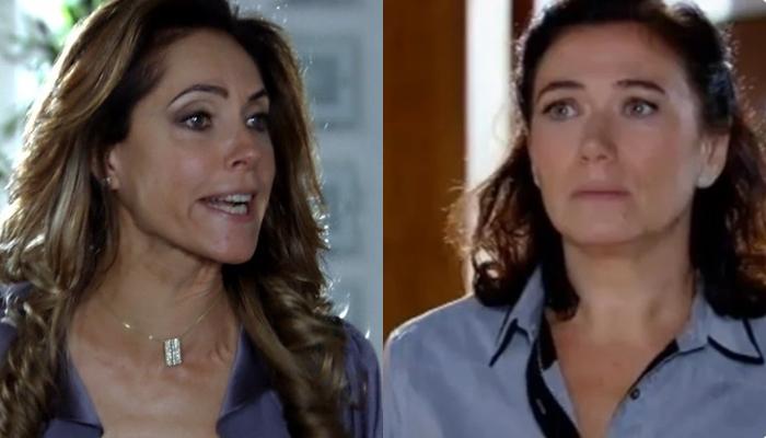 Tereza Cristina (Christiane Torloni) agredirá Griselda (Lilia Cabral) durante briga em Fina Estampa (Foto: Reprodução/Globo)