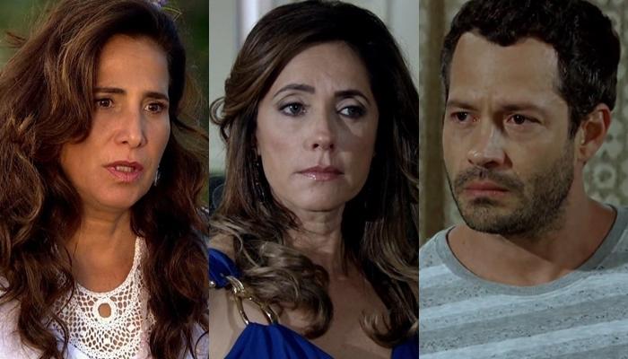 Zambeze (Totia Meireles), Tereza Cristina (Christiane Torloni) e Quinzé (Malvino Salvador) em Fina Estampa (Foto: Reprodução/Globo)