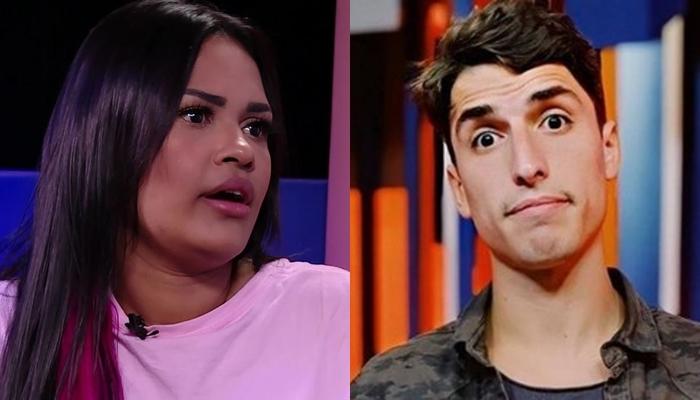 Flayslane Raiane e Felipe Prior; cantora defendeu o amigo do BBB20 em acusação de estupro (Foto: Reprodução/Globo)