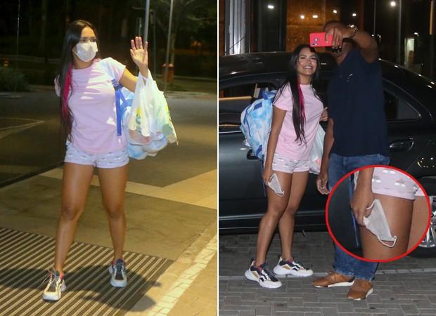 Flay causou polêmica ao posar sem máscara para foto com homem na rua (Reprodução: AgNews)