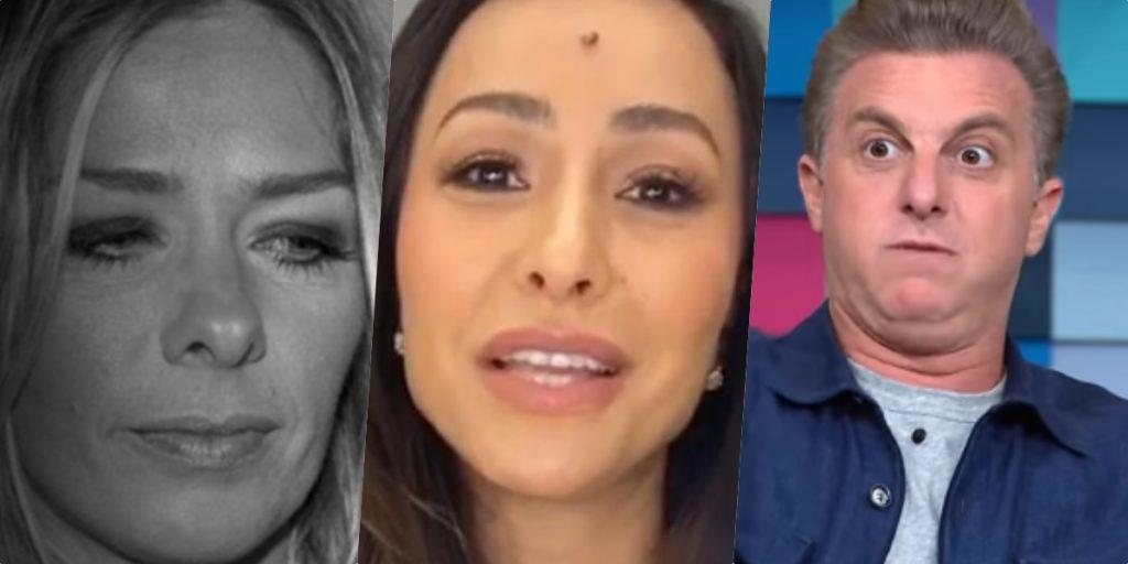 Galisteu, Sabrina Sato e Luciano Huck recebem previsões de sensitiva (Foto montagem: TV Foco)