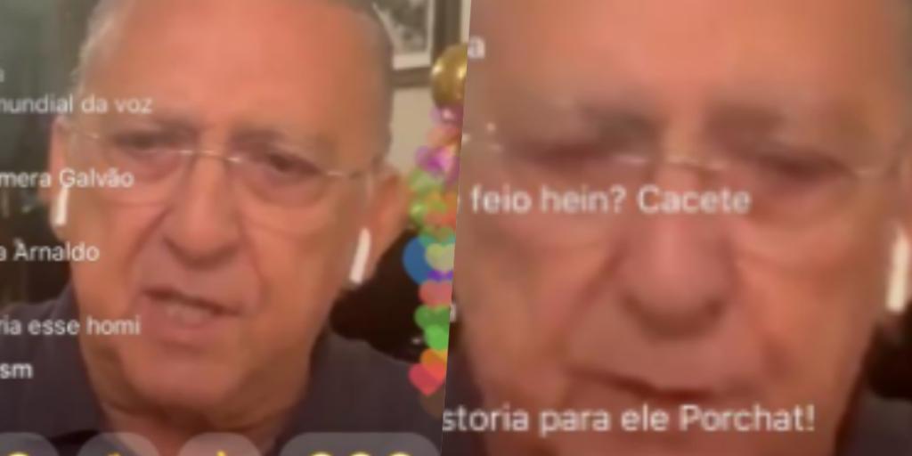 Galvão Bueno deu uma entrevista especial para Fábio Porchat ao vivo (Foto montagem: TV Foco)