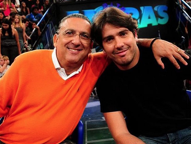 Galvão Bueno e o filho, Cacá Bueno (Reprodução)