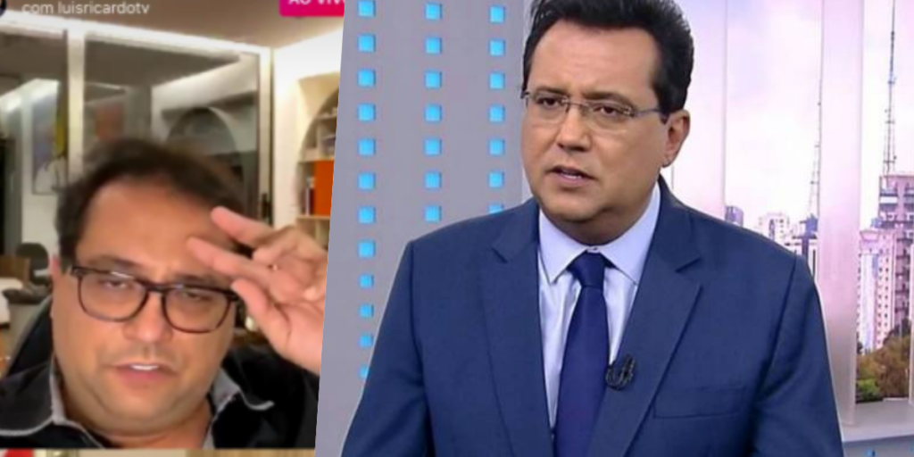 Geraldo Luís ao vivo em live com Luis Ricardo (Foto montagem: TV Foco)
