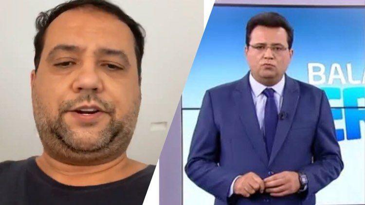 """Geraldo Luis recebeu a visita dos """"Carregadores de Caixão"""" na porta de casa (Montagem: TV Foco)"""