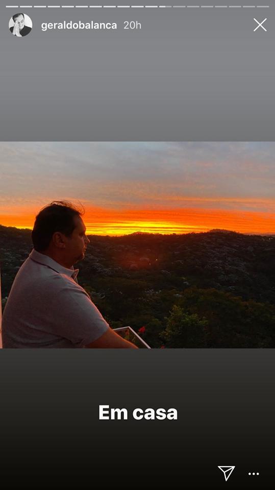 Geraldo Luis está em isolamento social em sua casa (Imagem: Instagram)
