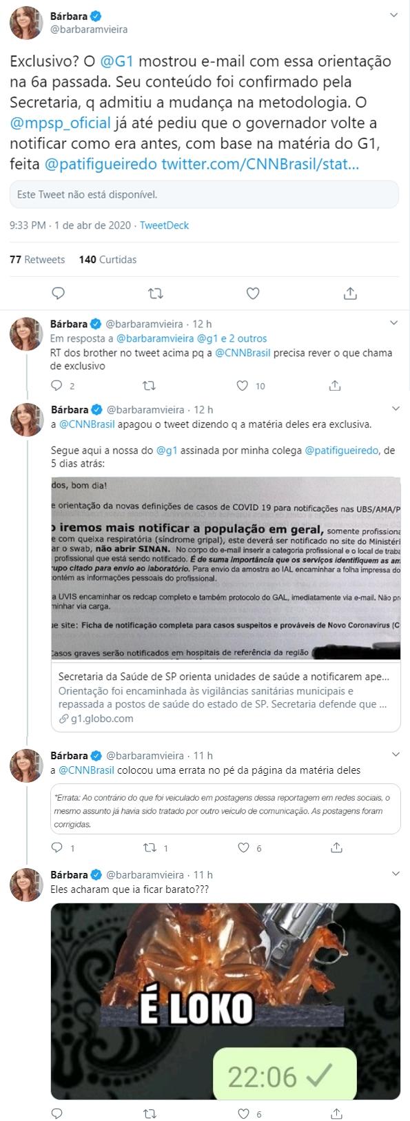Repórter da Globo desmente CNN Brasil) (Foto: Reprodução/Twitter)