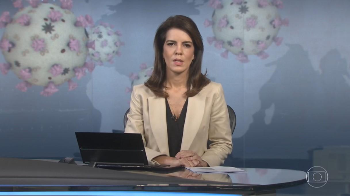 A jornalista Mariana Gross, que comandou o Jornal Nacional na Globo, ficará de quarentena - Foto: Reprodução