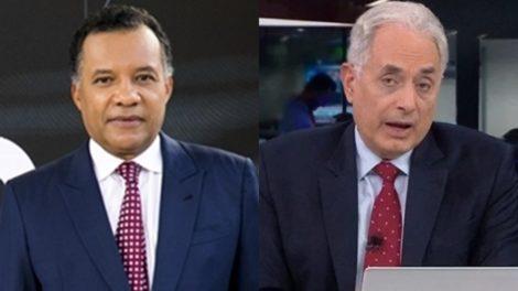 Heraldo Pereira no Jornal das Dez e William Waack no Jornal da CNN Brasil, respectivamente; Globo News deixou rival para trás e liderou audiência na TV paga (Foto: Globo/Sergio Zalis/Reprodução/CNN Brasil/Montagem TV Foco)