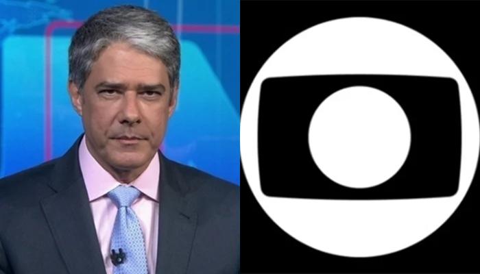 William Bonner no comando do Jornal Nacional, que explicou medidas adotadas contra o coronavírus; Globo tem funcionários infectados (Foto: Reprodução/Globo/Montagem TV Foco)