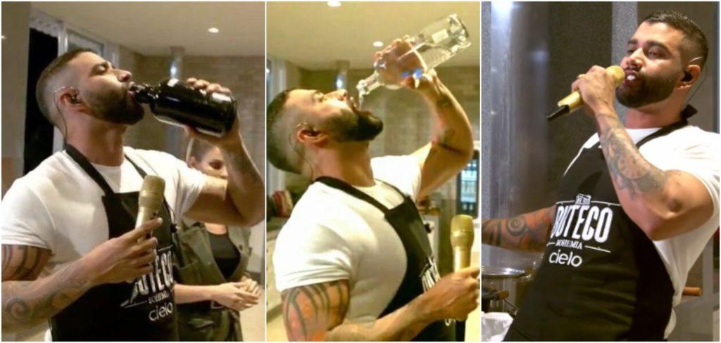 Por excesso de bebida em live no YouTube, Conar entrou com representação contra Gusttavo Lima (Reprodução)