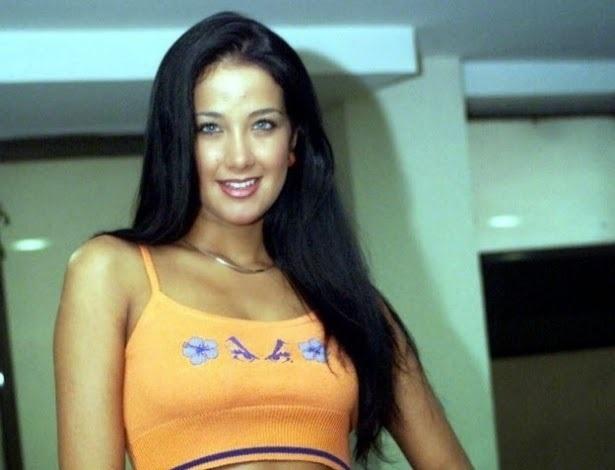 Helen Ganzarolli em seu início de carreira (Foto: reprodução)