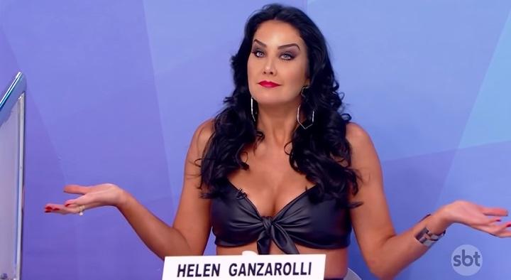 A apresentadora no 'Jogo dos Pontinhos' (Foto: reprodução/SBT)