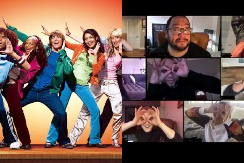 Elenco de High School Musical se reune em chamada de vídeo e anúncio de especial de TV deles é feito (Foto: Reprodução)