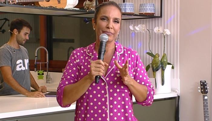 Ivete Sangalo em live na Globo, que superou audiência do JN e BBB20 (Foto: Reprodução/Globo)