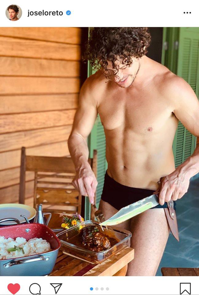 José Loreto exibe seus dotes culinários durante a quarentena (Imagem: Instagram)