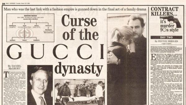 Jornal da época relatando a morte do neto de Guccio Gucci (Foto: Reprodução)