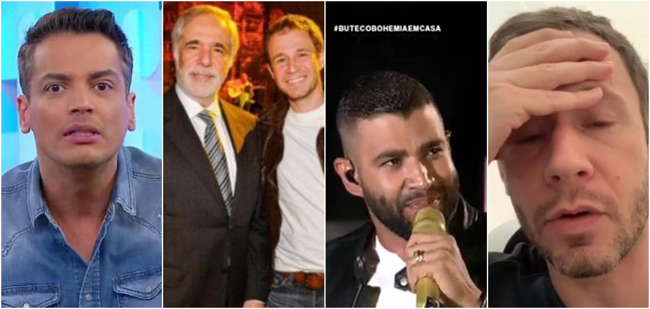 Tiago Leifert negou que seu pai, ex-diretor da Globo, tenha alguma coisa a ver com punição do Conar a Gusttavo Lima, conforme insinuado por Leo Dias (Reprodução)