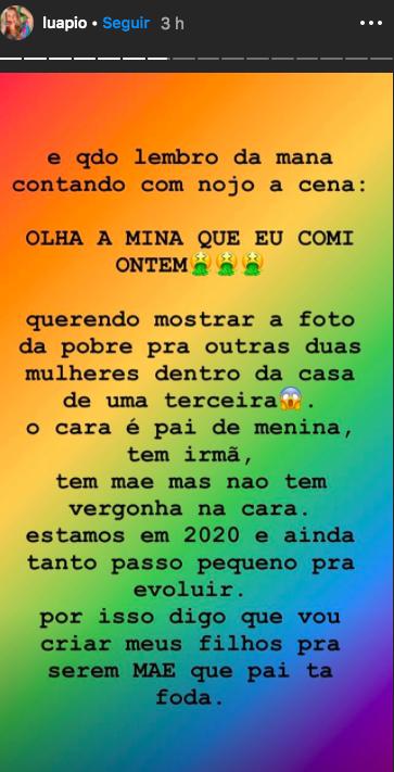 Luana se revoltou (Foto: Reprodução/Instagram)