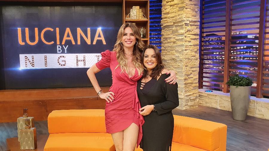 Fabíola Reipert foi a convidada de Luciana Gimenez no programa de entrevistas da apresentadora da RedeTV! (imagem: divulgação)
