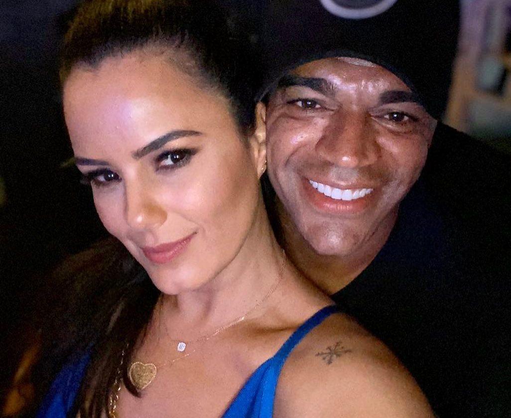 A famosa atriz Luciele Di Camargo e o seu marido e apresentador da Band, Denilson agitaram as redes sociais Foto: Reprodução/Instagram)