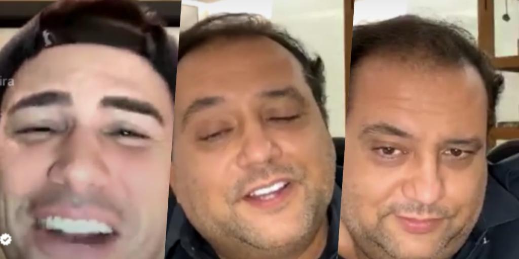 Luiz Bacci e Geraldo Luís tiveram uma divertida live (Foto montagem TV Foco)