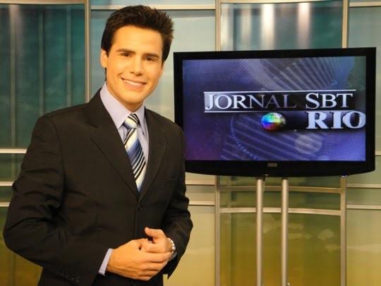 O jornalista no 'Jornal do SBT Rio' (Foto: reprodução/SBT)