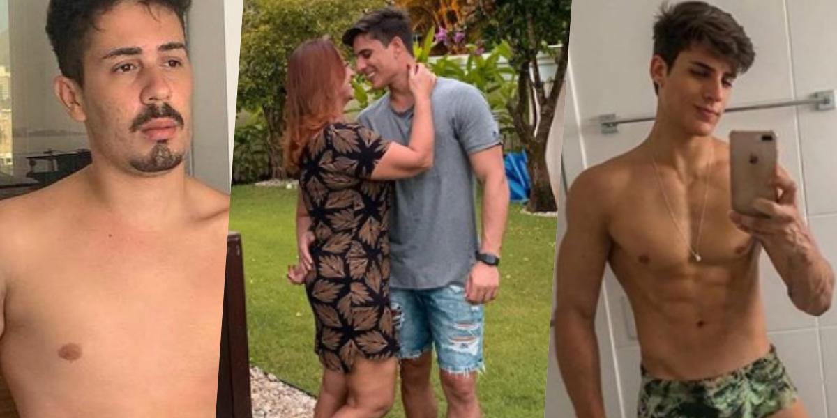 Mãe de Neymar assumiu namoro com Tiago Ramos de 23 anos. O rapaz já teve uma relação com Carlinhos Maia (Foto montagem: TV Foco)