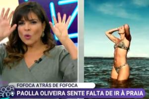 Mara Maravilha fala sobre praia e pede fim de isolamento (Foto: Reprodução)