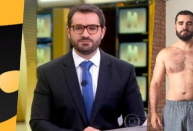 Marcelo Cosme, âncora da GloboNews, teve intimidade exposta em app de pegação (Foto montagem: TV Foco)