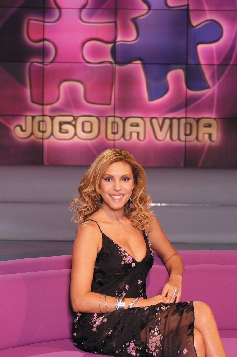 A apresentadora no programa 'Jogo da Vida' (Foto: reprodução)