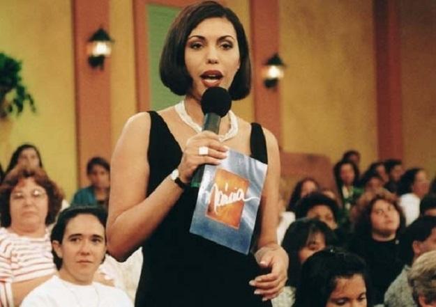 A apresentadora em seu programa 'Márcia' (Foto: reprodução)