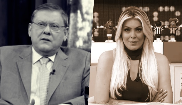 Milton Neves e Renata Fan (Foto: Reprodução)