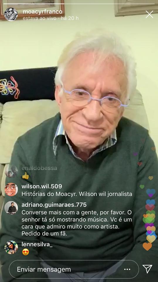 Moacyr Franco revela que já usaram seu nome para se aproximar de Roberto Carlos (Montagem: TV Foco)