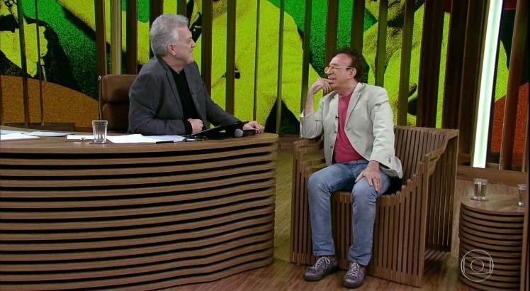 Moacyr Franco no programa Conversa com Bial na Globo (Imagem: Globo)