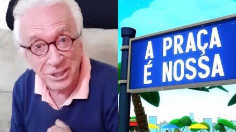 """Moacyr Franco revela que amigo da Praça é Nossa """"recebeu santo"""" (Montagem: TV Foco)"""