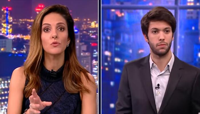 Monalisa Perrone desmentiu o comentarista Caio Coppolla durante o quadro Grande Debate (Foto: Reprodução/CNN Brasil)
