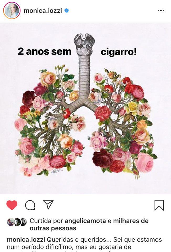 Monica Iozzi comememota dois anos longe do vício do cigarro e ganha apoio dos famosos (Imagem: Instagram)