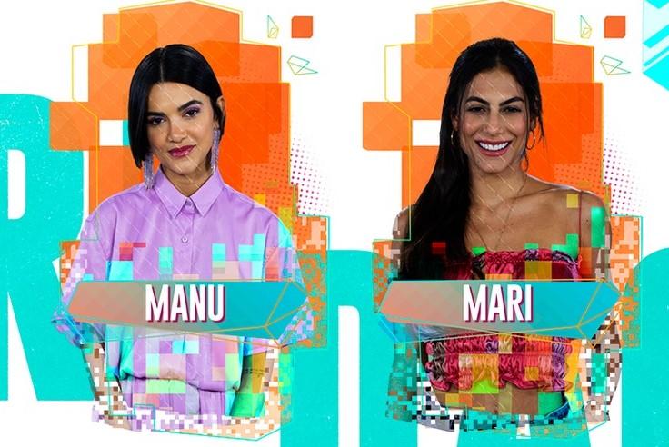 Manu Gavassi disputa paredão com Mari no BBB20 - Foto: Divulgação
