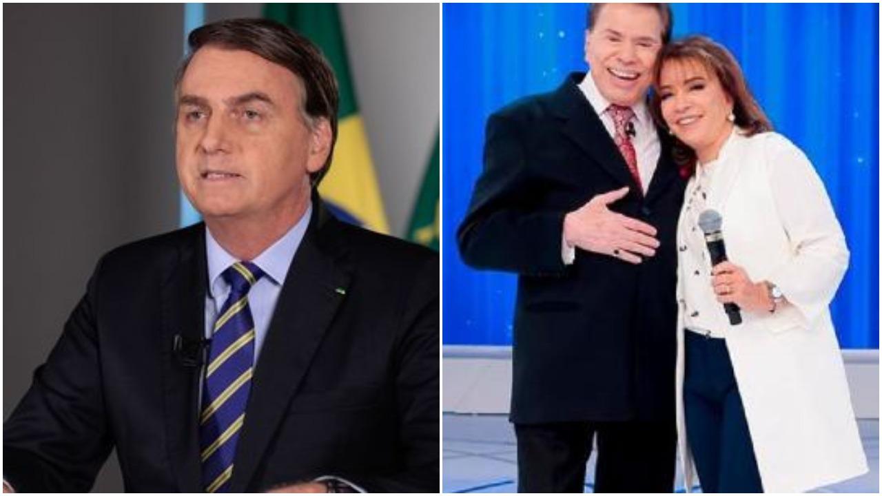 Íris Abravanel, mulher de Silvio Santos, aparece em live com Bolsonaro e SBT transmite (Foto: Reprodução)