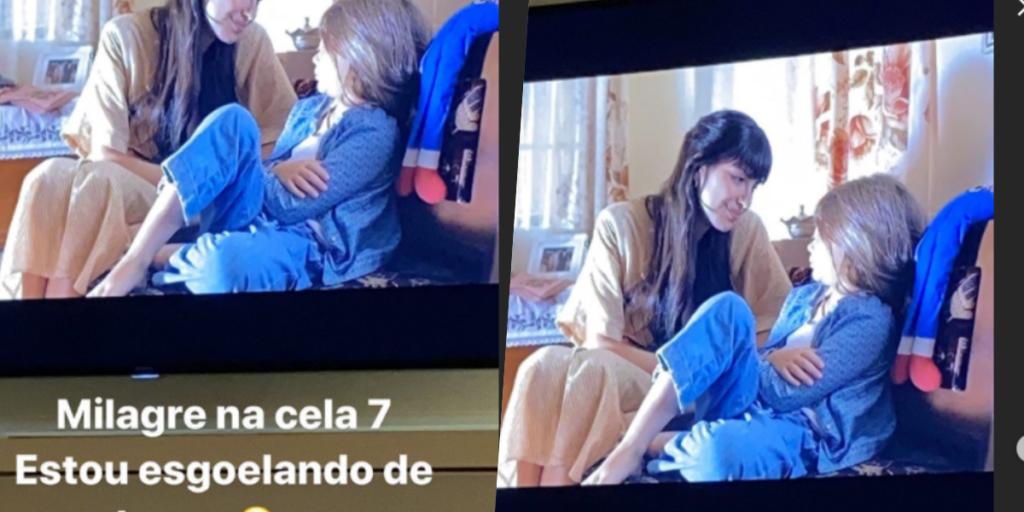 Esposa de Leonardo mostrou que estava muito tocada com filme (Foto montagem)