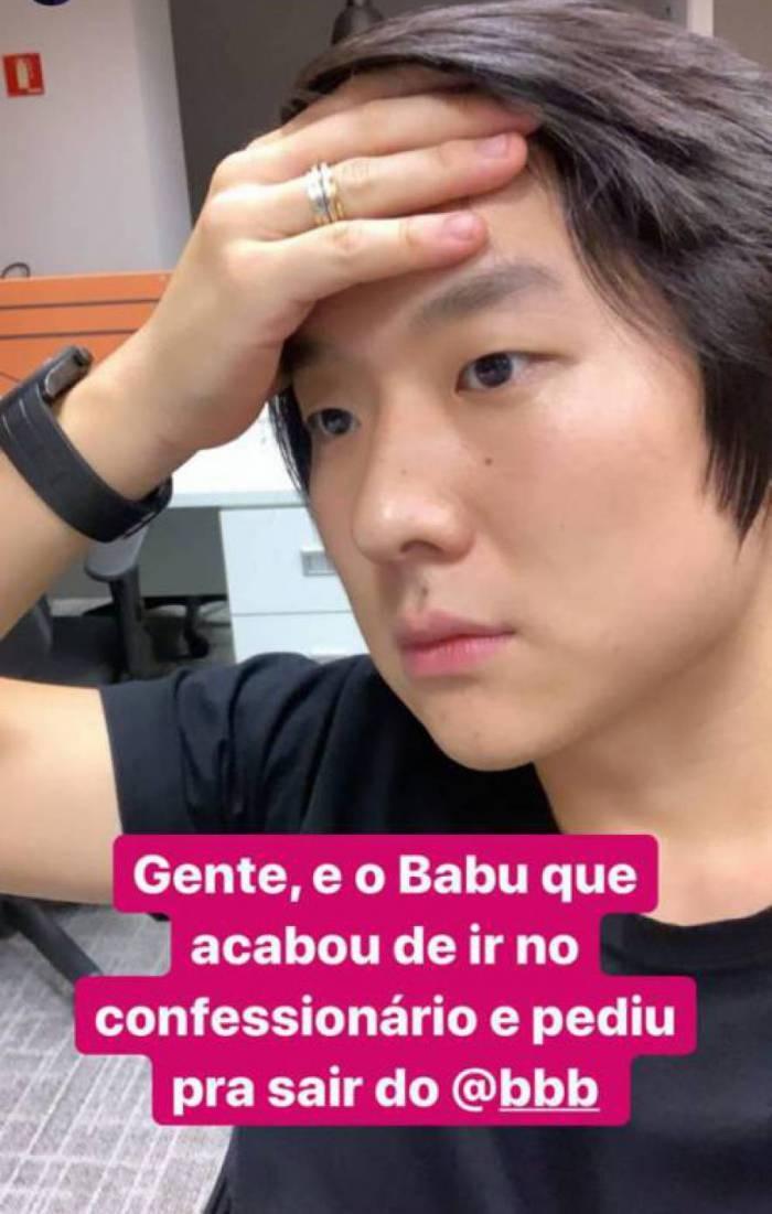 BBB20: Pyong comenta pedido de desistência de Babu (Foto: reprodução/Instagram)