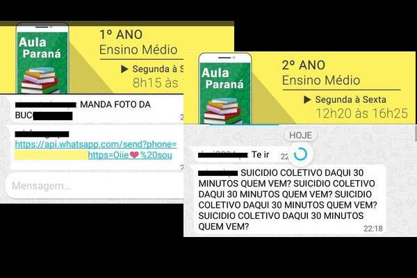 Crianças e adolescentes do estado do Paraná foram expostos a mensagens de cunho sexual e suicídio, Ratinho Jr é o governador do estado (Imagem: Portal Cambé)