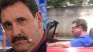 Ratinho surgiu em um carrão nas ruas de Curitiba (Montagem: TV Foco)