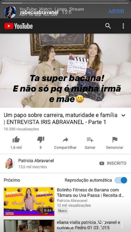 Rebeca Abravanel expôs vídeo da família e deu o que falar (Foto: Reprodução)