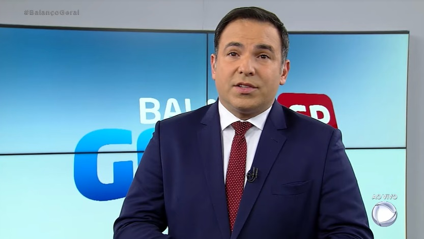 O apresentador no 'Balanço Geral SP' (Foto: reprodução/Record)
